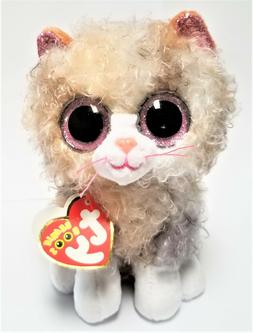 Ty Beanie Boo's - 6'' Scrappy The Curly Haired Cat Stuffed P