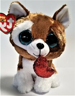 Ty Beanie Boo's - 6''Smootches The Valentine Dog Stuffed Plu