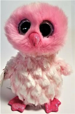 Ty Beanie Boo's - 6' TWIGGY The Pink Owl Stuffed Plush Anima