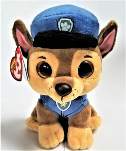 Ty Beanie Boo's  Paw Patrol 6'' CHASE  Stuffed Plush Animals