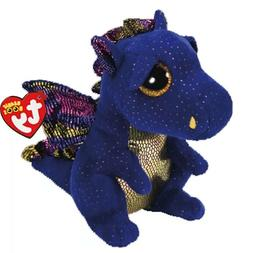 "Ty Beanie Boos 6"" 15cm Merlin the Dragon Plush Regular Stuff"