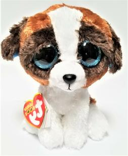 Ty Beanie Boos 6'' Duke The Brown /white dog Stuffed Plush A