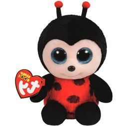 """TY Beanie Boos 6"""" Izzy the Lady Bug Stuffed Animal Plush MWM"""