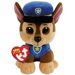 "TY Beanie Boos 6"" Paw Patrol CHASE German Shepherd Plush Stu"