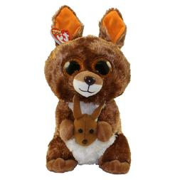 "Ty Beanie Boos 9"" MEDIUM Kipper the Kangeroo Stuffed Animal"