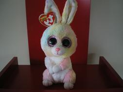 """Ty Beanie Boos 10"""" Medium Bubby Multicolor Easter Bunny Plus"""