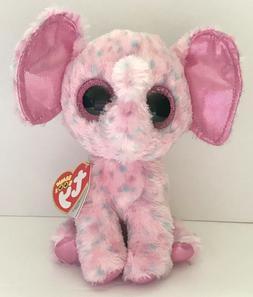 Ty Beanie Boos Ellie Pink Speckled Elephant Regular Plush