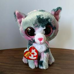 "TY Beanie Boos Lindi the Cat 6"" 2016 plush animal toy"