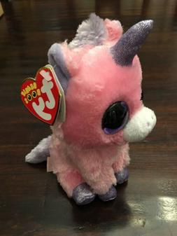 TY Beanie Boos Magic Unicorn Pink Purple 2014 Plush Stuffed