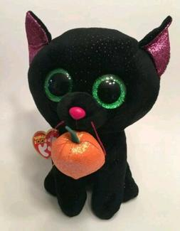 Ty Beanie Boos Potion The Stuffed Plush Black Cat With Pumpk