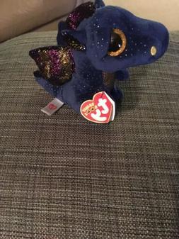 """TY Beanie Boos Saffire The Blue Dragon 6"""" Plush Stuffed An"""