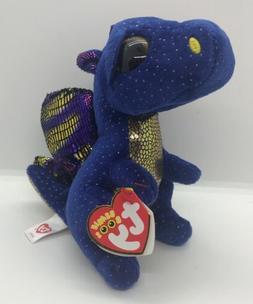 TY Beanie Boos - SAFFIRE the Blue Dragon   - MWMTs Boo Toy
