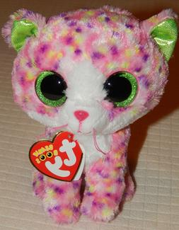 "Ty Beanie Boos ~SOPHIE~ the Cat 6"" Plush Stuffed Animal MWMT"