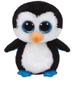 "TY BEANIE BOOS WADDLES THE PENGUIN 6"" INCHES TY"