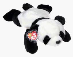 TY Beanie Buddy - PEKING the Panda Bear  - MWMTs Stuffed Ani