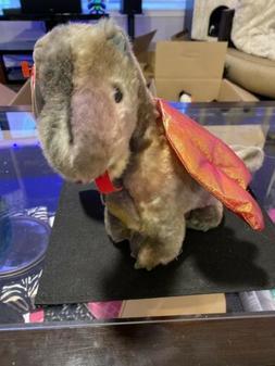 TY Beanie Buddy - DRAGON the Dragon   - MWMTs Stuffed Animal