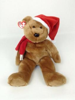"TY LARGE Beanie BUDDY Plush 1997 Holiday Teddy 15"" Chrismass"