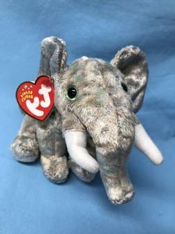 TY Beanie Baby - POUNDS the Elephant  - MWMTs Stuffed Animal