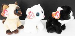 "6"" Ty Original Beanies Cats - 'Jaden', 'Ava' and 'Pearl' Set"