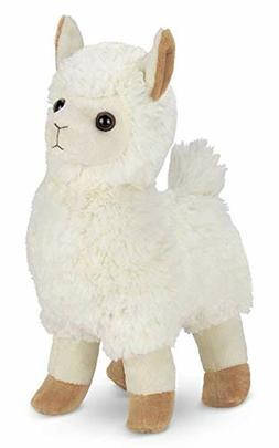 Bearington Alma Plush Stuffed Animal Llama, 10 inches valent