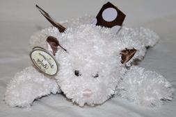Bearington Baby TEDDY BEAR RATTLE Pink Polka Dot Brown Satin