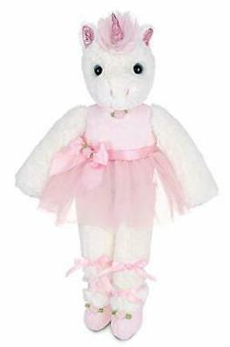 Bearington Dreamer White Plush Stuffed Animal Ballerina Unic