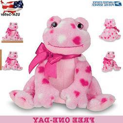 Bearington Hoppy Hearts Valentines Plush Stuffed Animal Frog