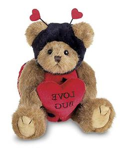 Bearington Love Bug Stuffed Animal Teddy Bear Holding Heart,