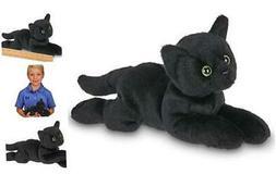 Bearington Small Plush Stuffed Animal Black Cat, Kitten 8 In