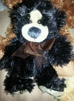 Bears stuffed animals, Soft  Plush Black bear w/Brown tie 7i