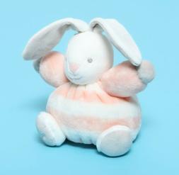 Kaloo Bebe Pastel Chubby Rabbit Plush Stuffed Animal Peach &