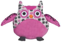 Large Bellapops Plush Owl Pillow by Ganz - Pink & White Flow