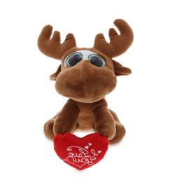DolliBu Big Eye Moose I Love You Valentine Stuffed Animal To