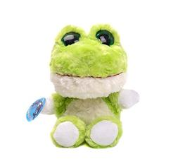 Big Eyes Series Green frog Stuffed Animals Plush Toys With B