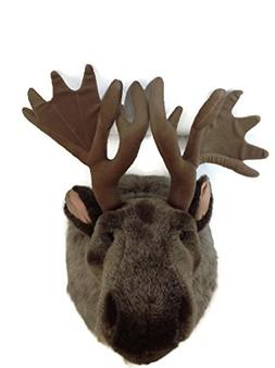 Wild Republic Big Head Moose Stuffed Animal Wall Mount