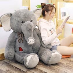 Big Large Grey Elephant Plush Soft Toys Doll Pillow Cushion