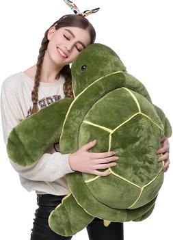 DOLDOA Big Plush Eyes Sea Turtle Stuffed Animal Tortoise Toy