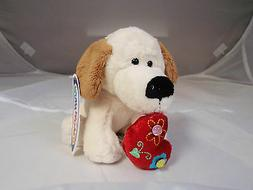 Mary Meyer 'Bit of Dazzle Puppy' white heart soft safe 6 inc