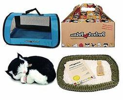 Perfect Petzzz Black and White Shorthair Kitten Plush with B