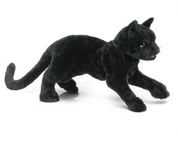 Folkmanis Black Cat Puppet Toy Plush Stuffed Animal Cat
