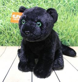 """Wild Republic BLACK JAGUAR 12"""" Plush Cuddlekins Stuffed Sitt"""