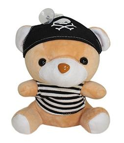 Lucore 7 Inch Black Pirate Teddy Bear Plush Stuffed Animal T