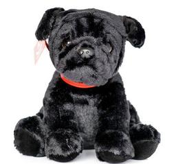 Black Pug Dog Plush Soft Toy 24cm Brand New