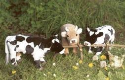 black white cow plush stuffed
