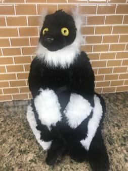 "12"" Black & White Lemur Soft Toy"