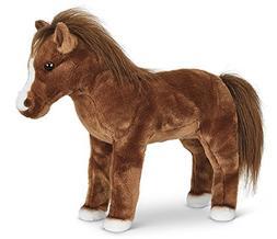 "Bearington Blaze Plush Stuffed Animal Toy Horse  13.5"""