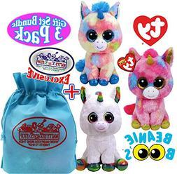 """TY Beanie Boos """"Unicorns"""" Blitz, Pixy & Fantasia Gift Set Bu"""