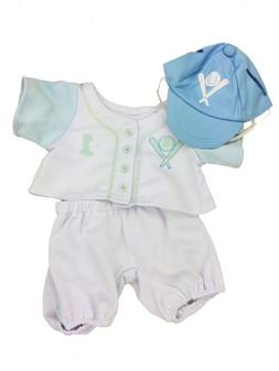 """Blue Baseball Outfit Fits Most 14"""" - 18"""" Build-a-bear, Vermo"""