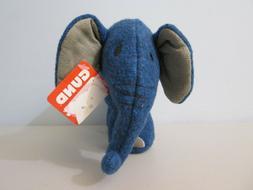 "Gund Blue Elephant Kimi Plush Stuffed Animal 6"""