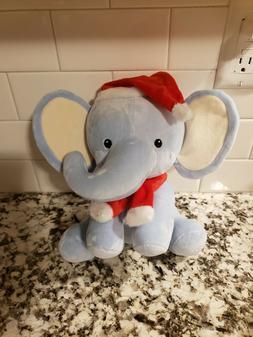 Bedtime Originals Blue Plush Elephant Stuffed Animal - Santa